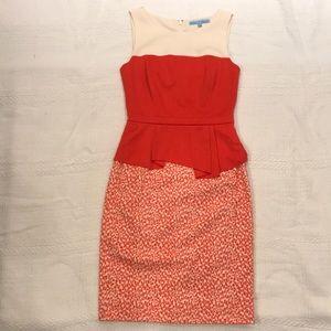 NWOT Antonio Melani Cream and orange dress